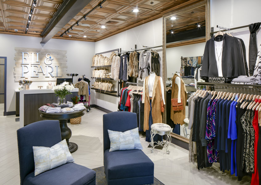 Eli & Pearl is a high end women's fashion boutique located in the  Plantation Promenade Shopping plaza. The 1,200 square foot retail store was  a renovation ...